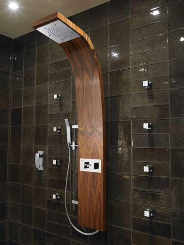 Дизайнерская деревянная душевая панель