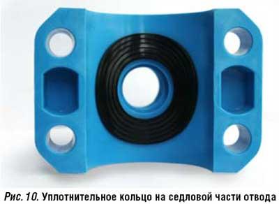 Уплотнительное кольцо на седловой части отвода